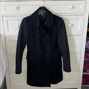 French Connection Long Multi-Tone Peacoat